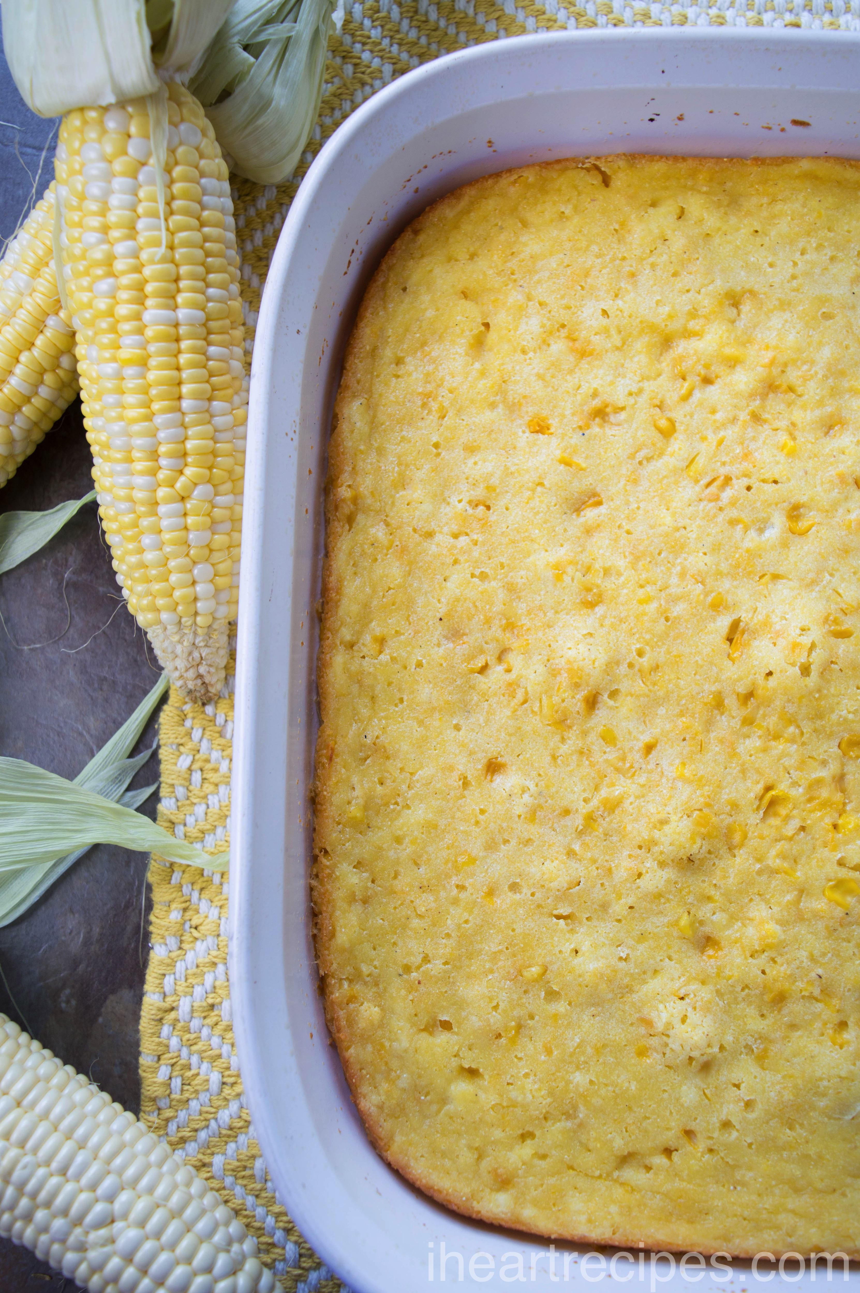 Corn pudding or corn stuffing, no matter what you call it, this is a delicious dish.