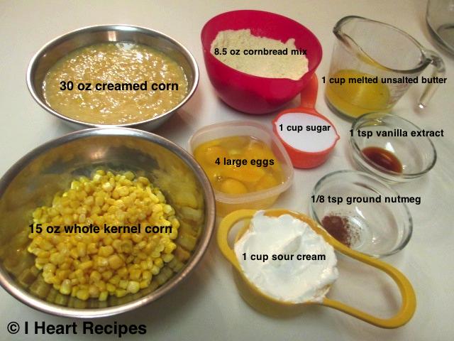corn pudding ingredients2