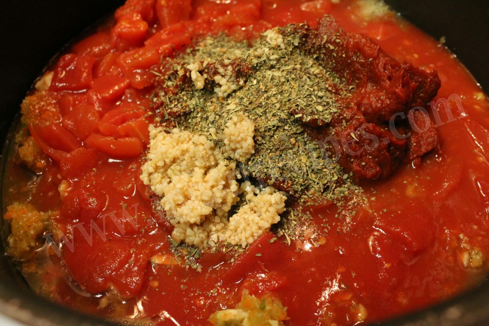 vegetable marinara 5