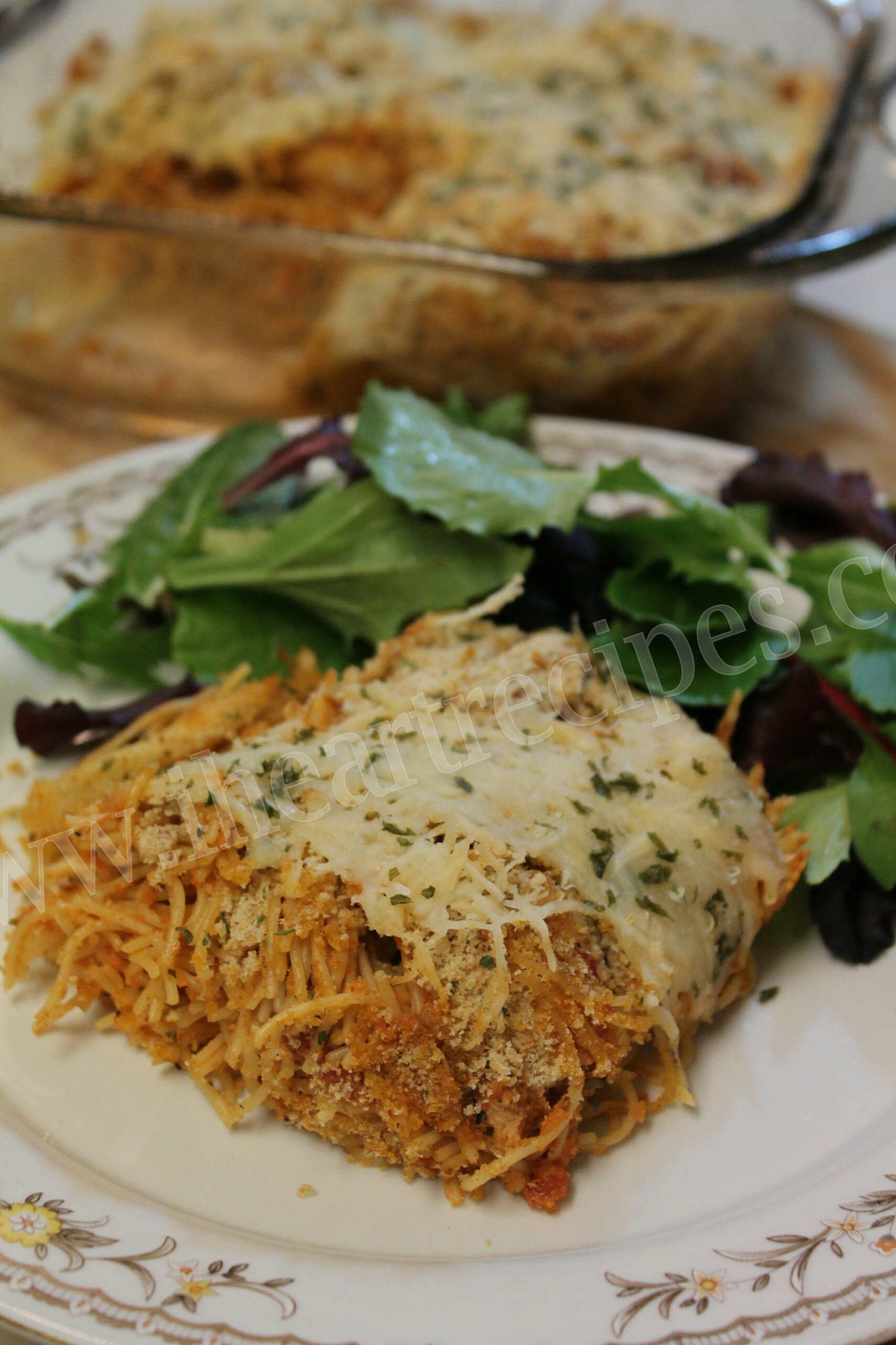 Serve this chicken parmesan casserole with a side salad for a simple and delicious dinner