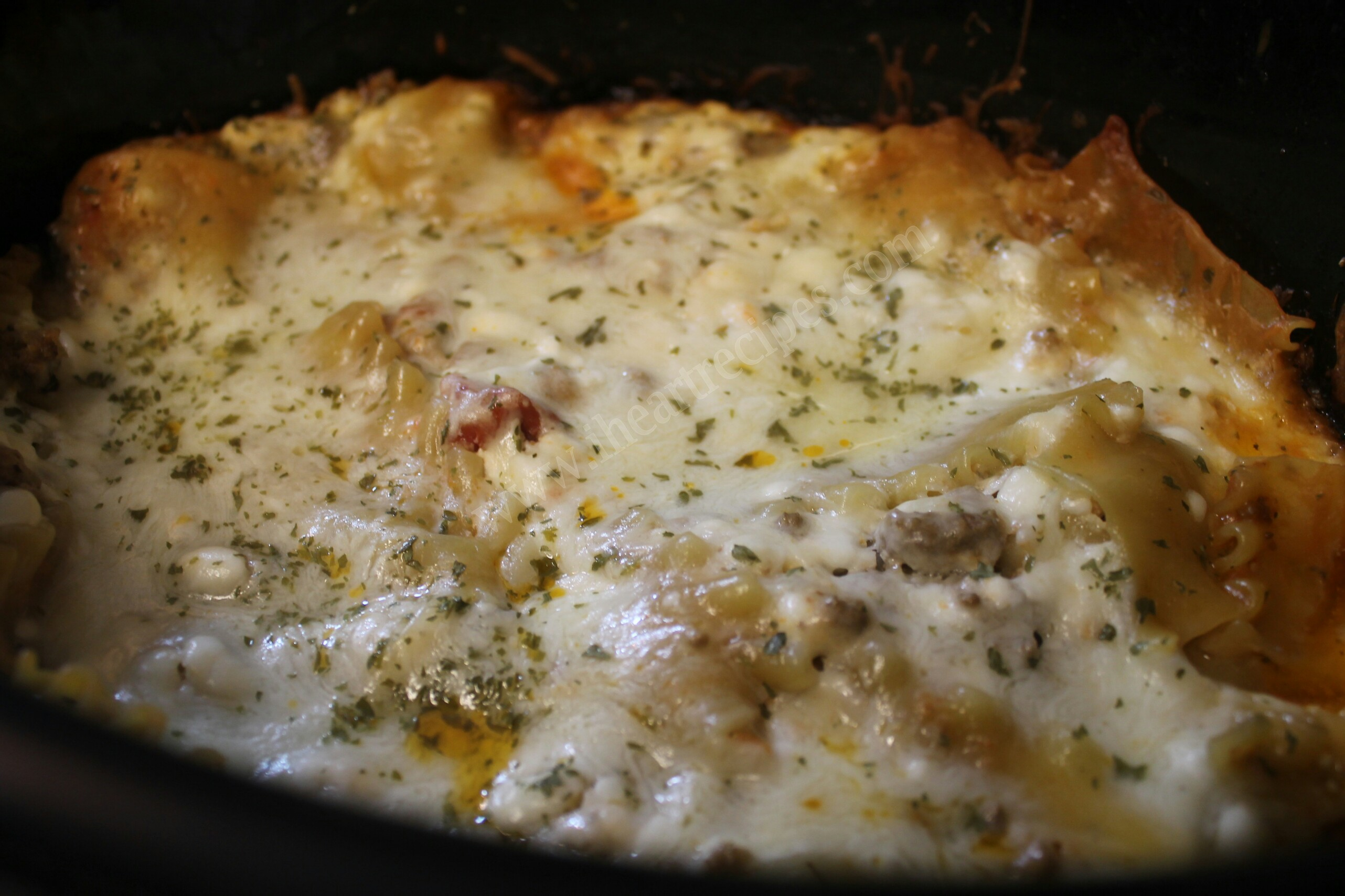 This slow cooker beef lasagna recipe takes all the hard work out of making the classic dish