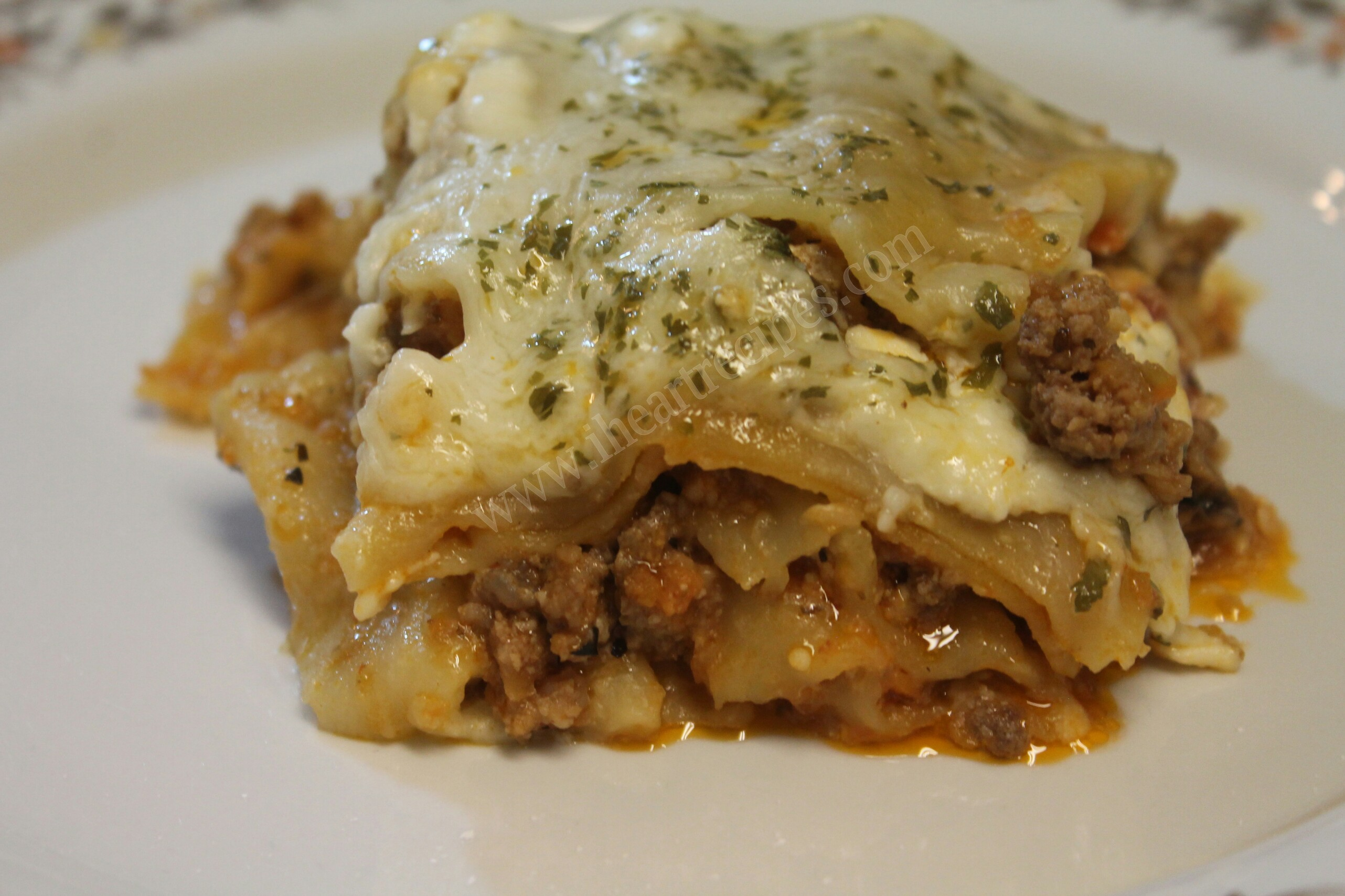 Slow cooker lasagna is a heart dinner that's so easy to pull together