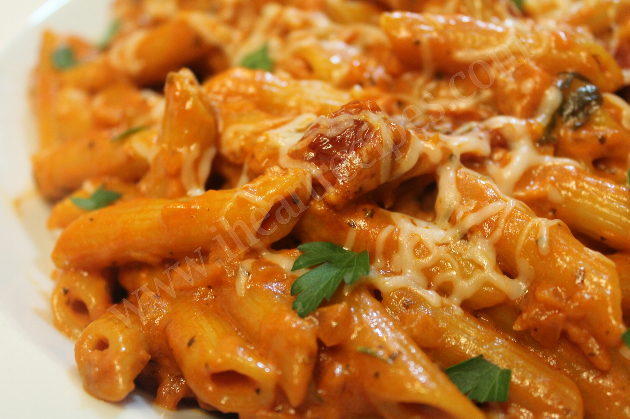 Penne with Homemade Vodka Sauce is decadent and easy!