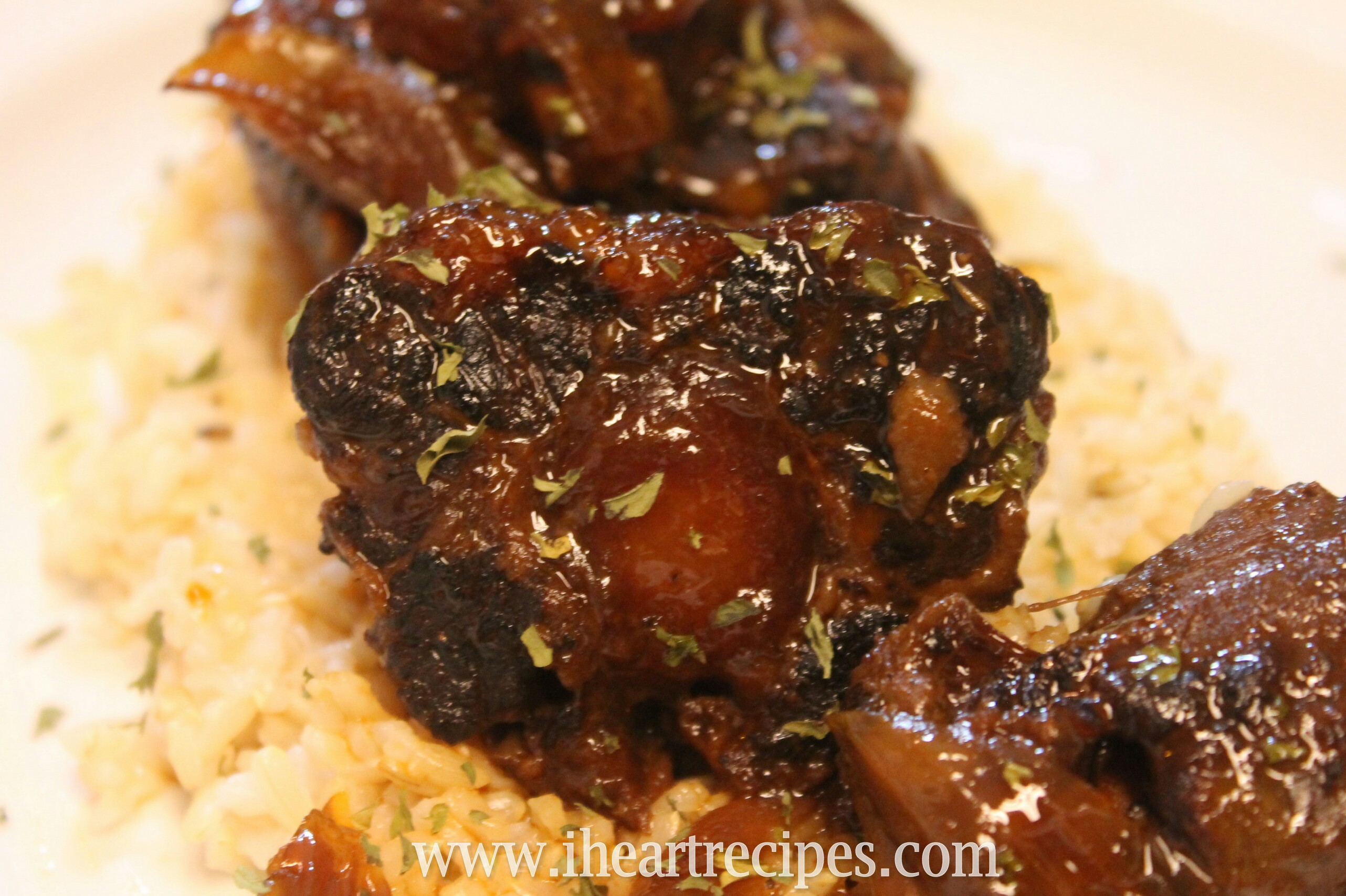 Barbecue Oxtails made in the slow cooker