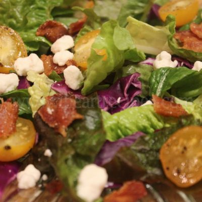 Bacon and Goat Cheese Spring Salad