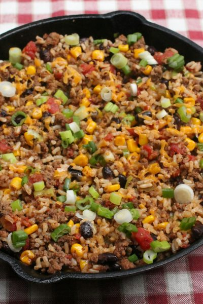 Tex Mex Ground Beef Skillet
