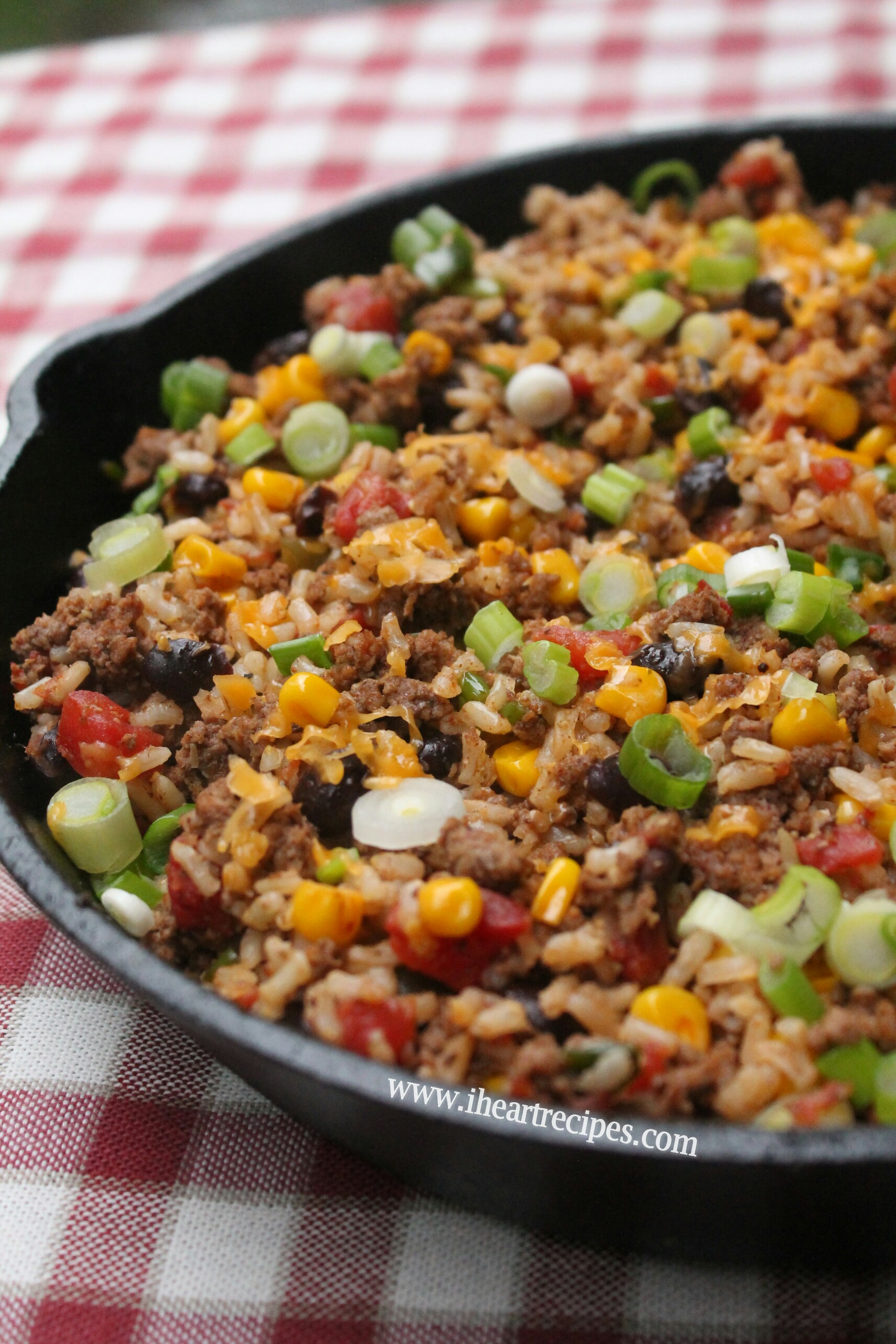 Tex mex ground beef skillet i heart recipes for Different meal ideas for ground beef