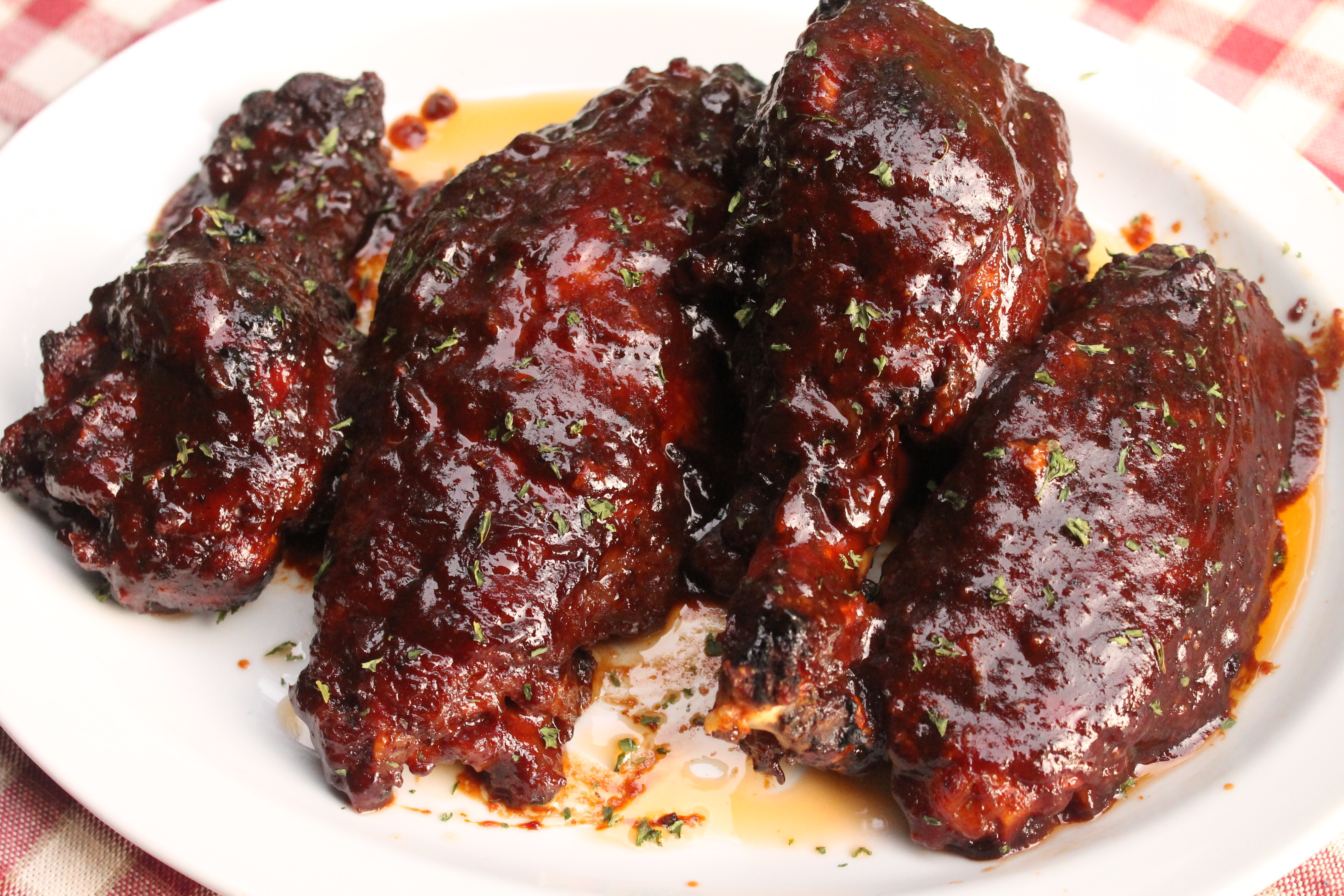 These BBQ turkey wings are smokey and savory. Simply succulent!