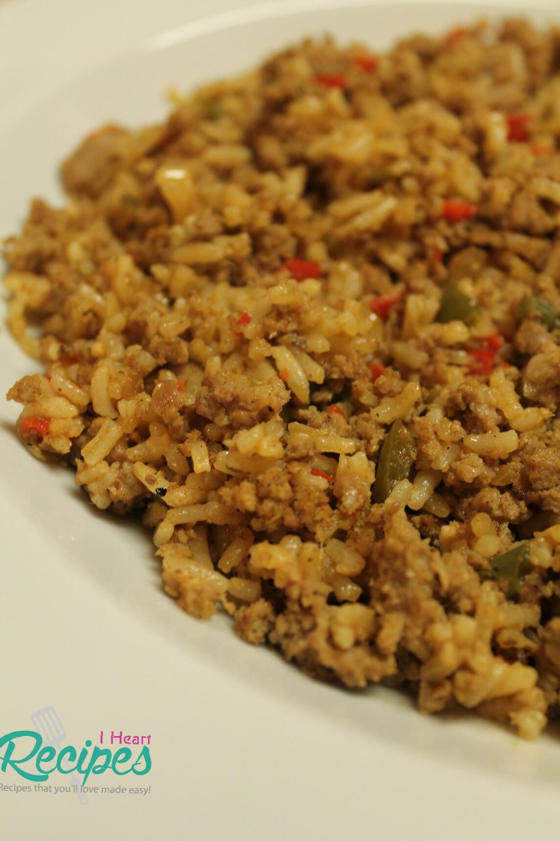 Dirty Rice Made With Ground Turkey