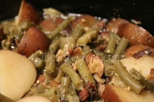 Southern Green Beans, Bacon, and Potatoes