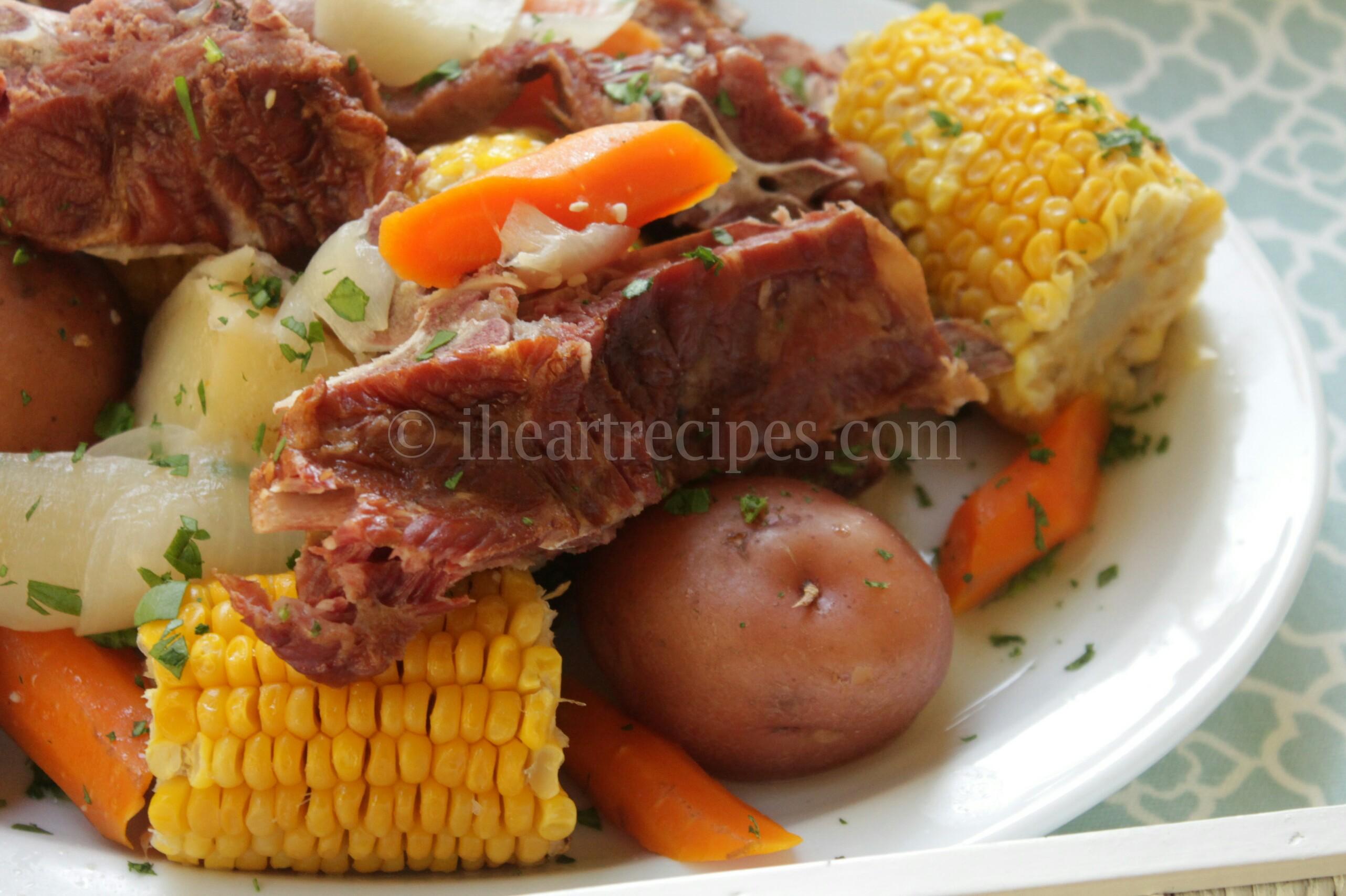 how to cook pork neck bones and potatoes