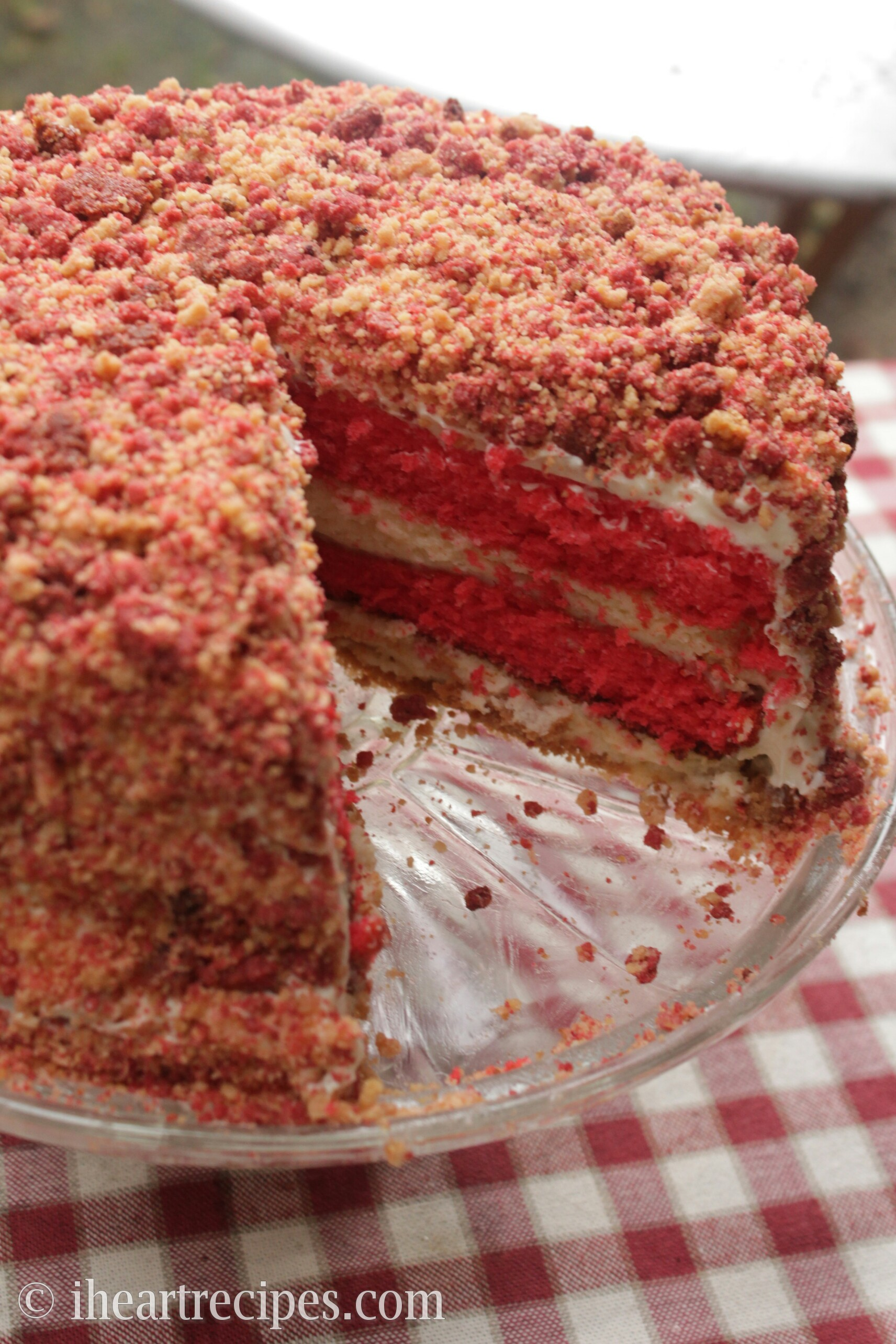 This Cheesecake Is Crumbly And Sweet Just Like Strawberry Shortcake