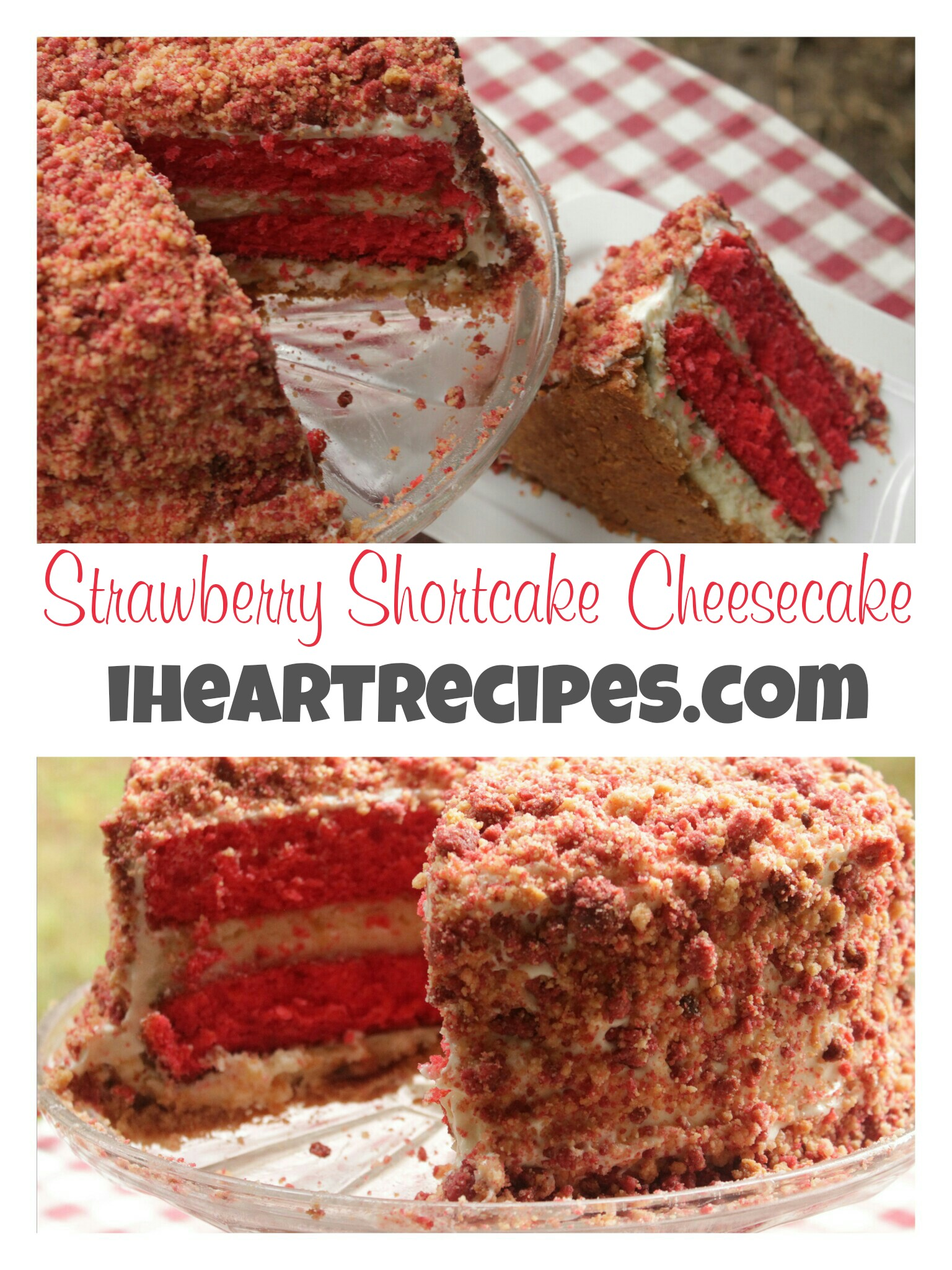Learn how to make Strawberry Shortcake Cheesecake from IHeartrecipes.com