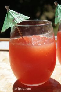 Homemade Watermelon Vodka Slushies