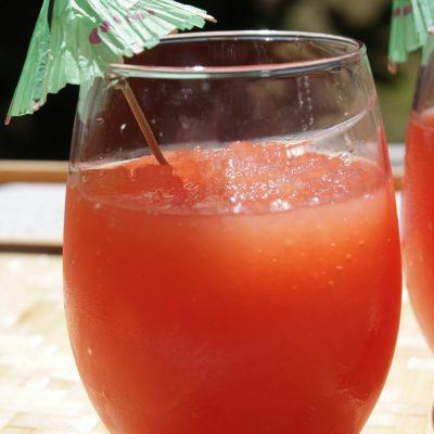 Homemade Watermelon Vodka Slushies