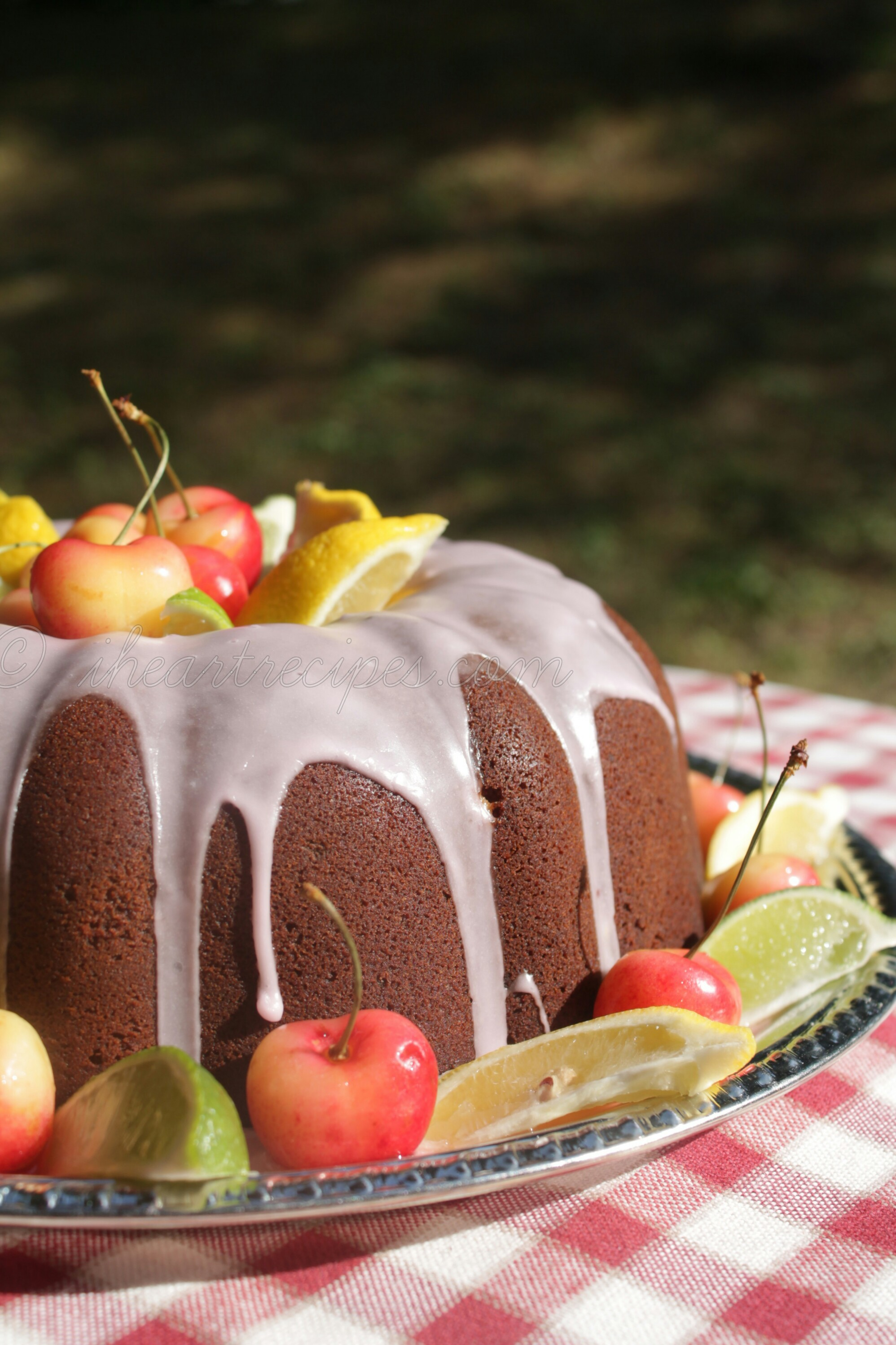 This sweet Cherry 7up Pound Cake is such a simple dessert recipe