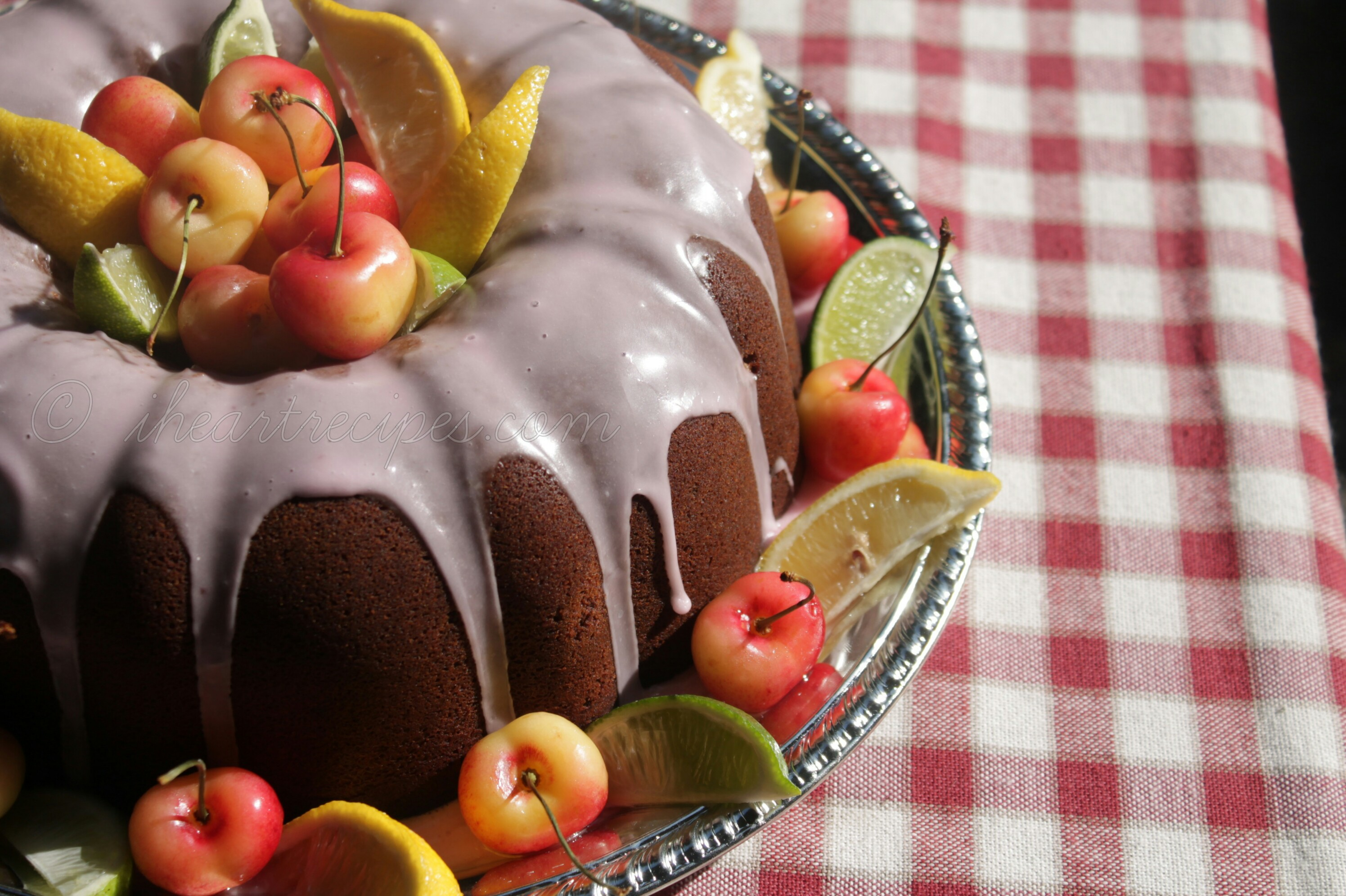 Homemade Cherry 7up Pound Cake is sweet and moist, the perfect dessert
