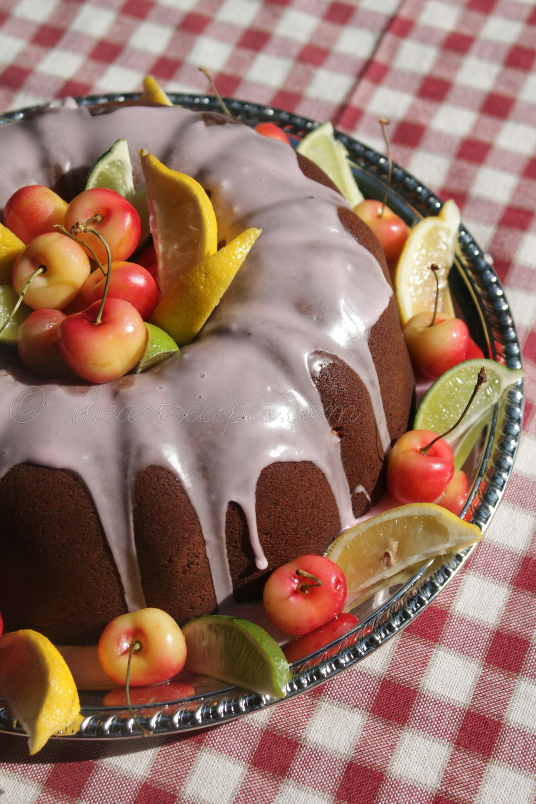 A sweet vanilla glaze coats this moist cherry 7up cake