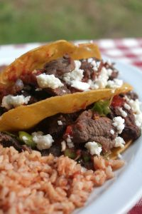 Steak Tacos  with Queso Fresco
