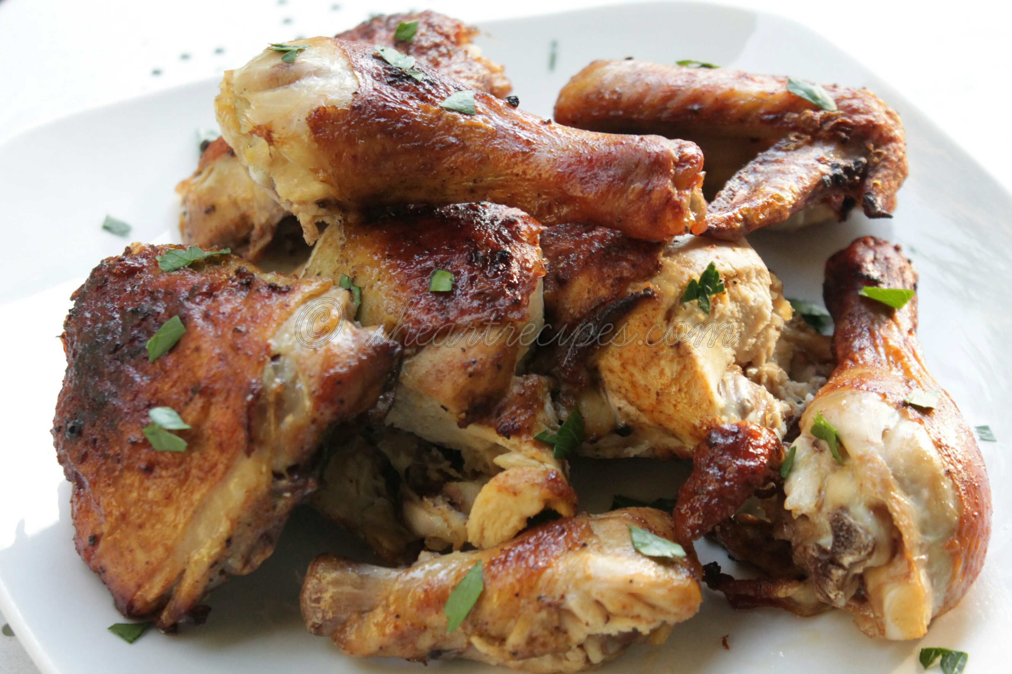 Simple Roast Chicken makes a great family meal.