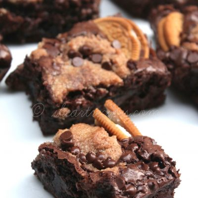 Oreo Chocolate Chip Brownies