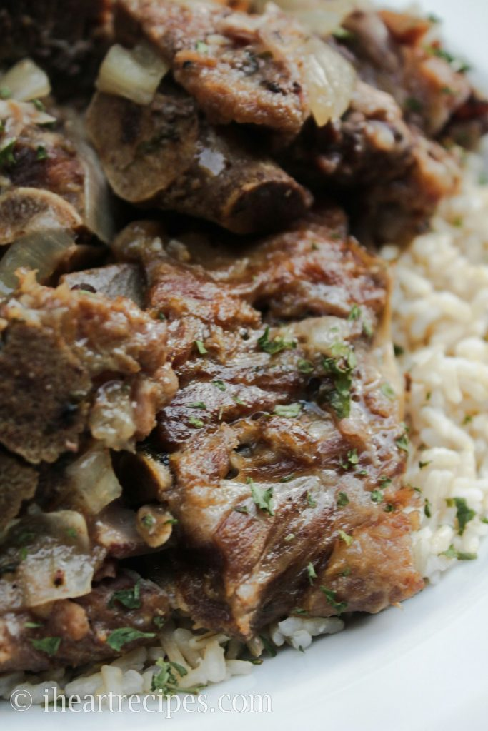 These tender soul food style pork neck bones are so tender they melt in your mouth.