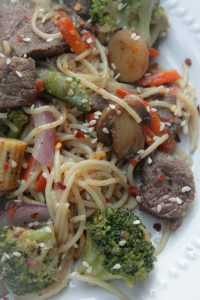 Beef & Vegetable Spaghetti Stir Fry