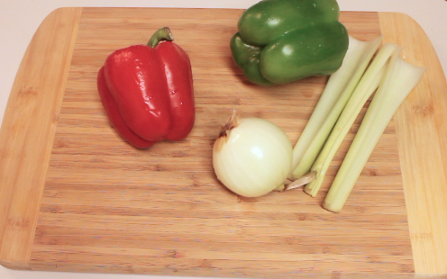 Fresh peppers, onion and celery