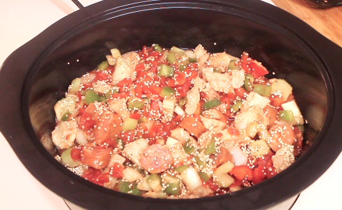 Mix all the ingredients together and add them to the Crock Pot
