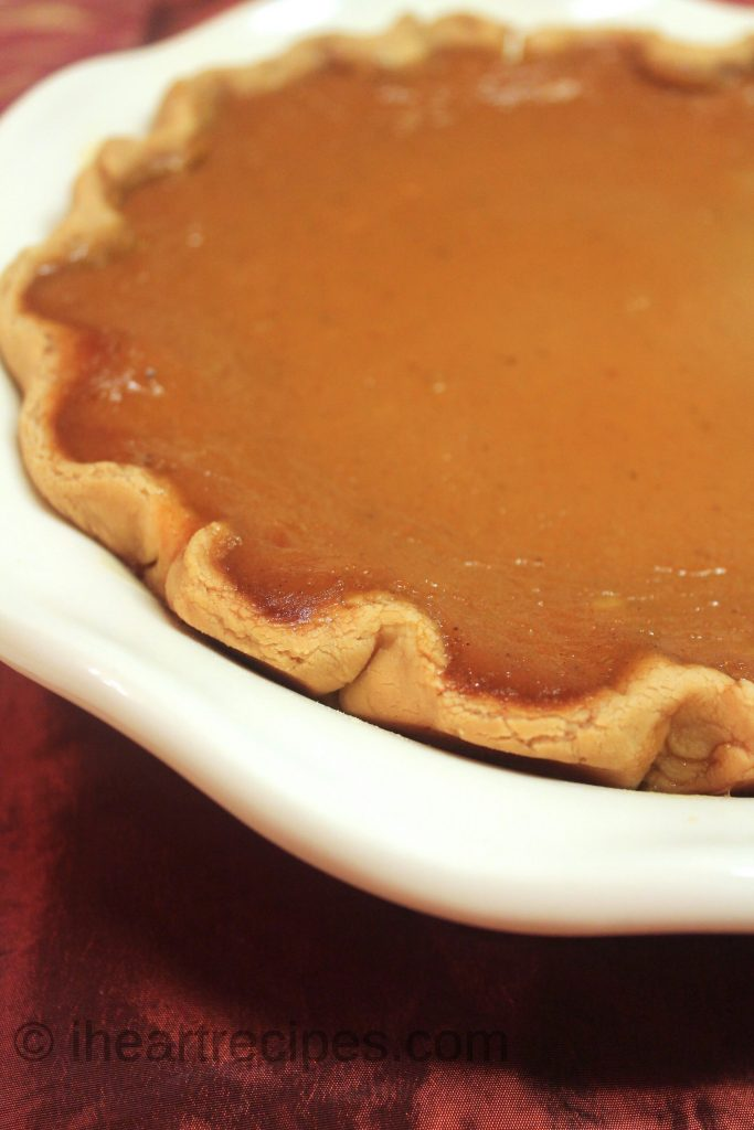 This traditional pumpkin pie is a delicious treat that's perfect for the holidays