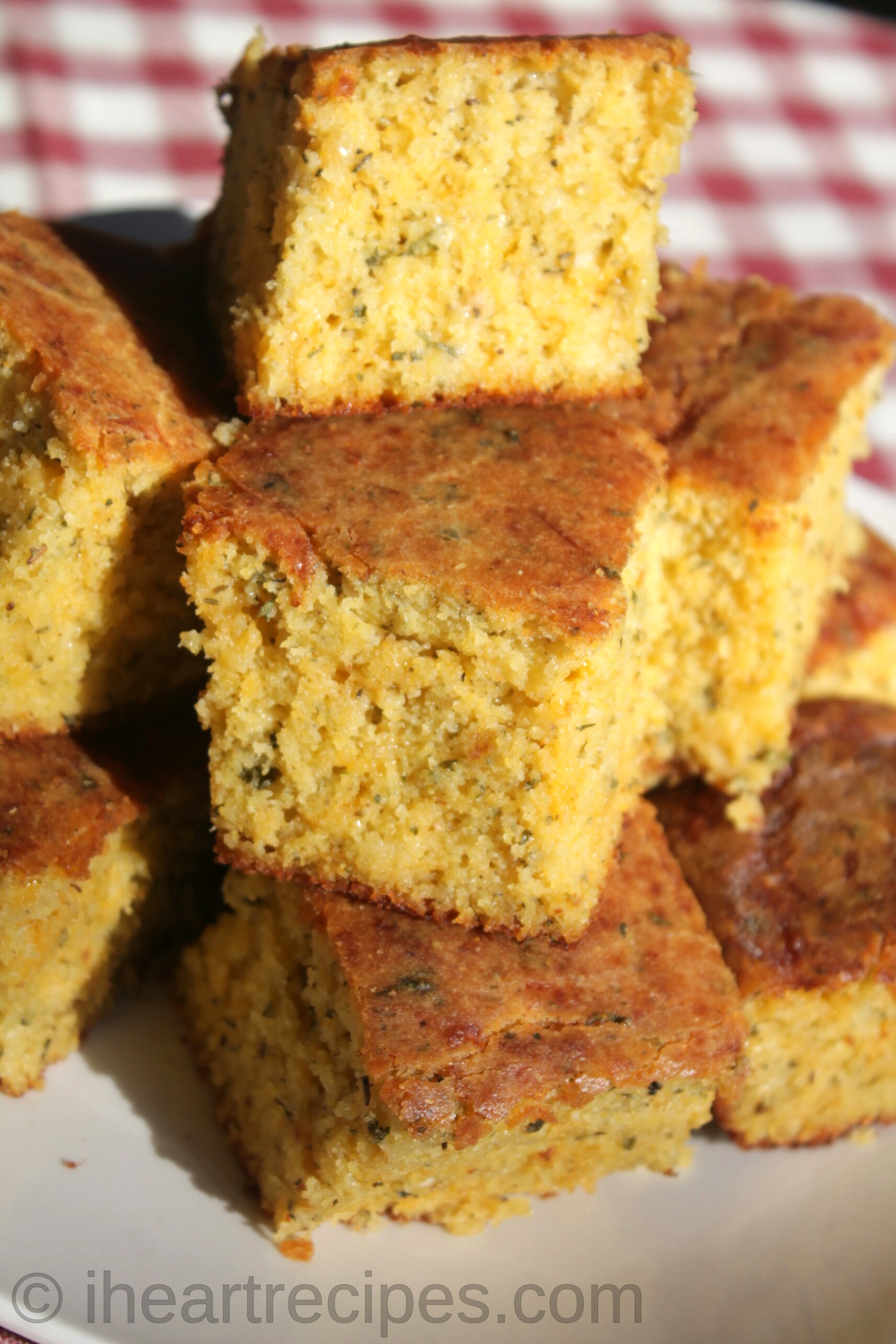 Cheesy Garlic Herb Cornbread I Heart Recipes