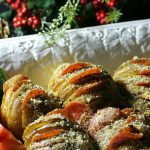 Pepperoni & Cheese Hasselback Potatoes