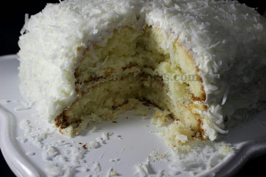Coconut Cake With Fluffy Coconut Icing Recipe