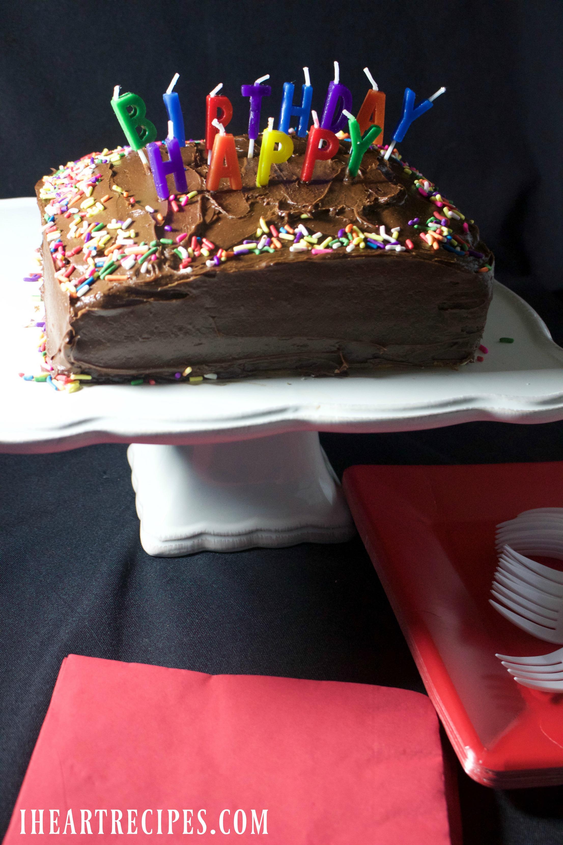 Simple Birthday Cake Recipe I Heart Recipes