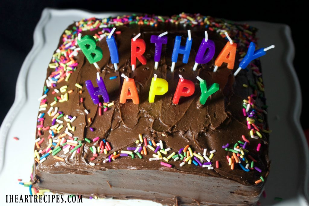 Miraculous Simple Birthday Cake I Heart Recipes Funny Birthday Cards Online Alyptdamsfinfo