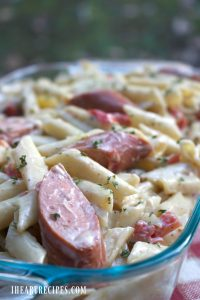 Creamy Jambalaya Pasta made with Dollar Tree Ingredients
