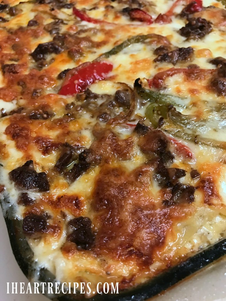 Philly Cheesesteak Lasagna | I Heart Recipes
