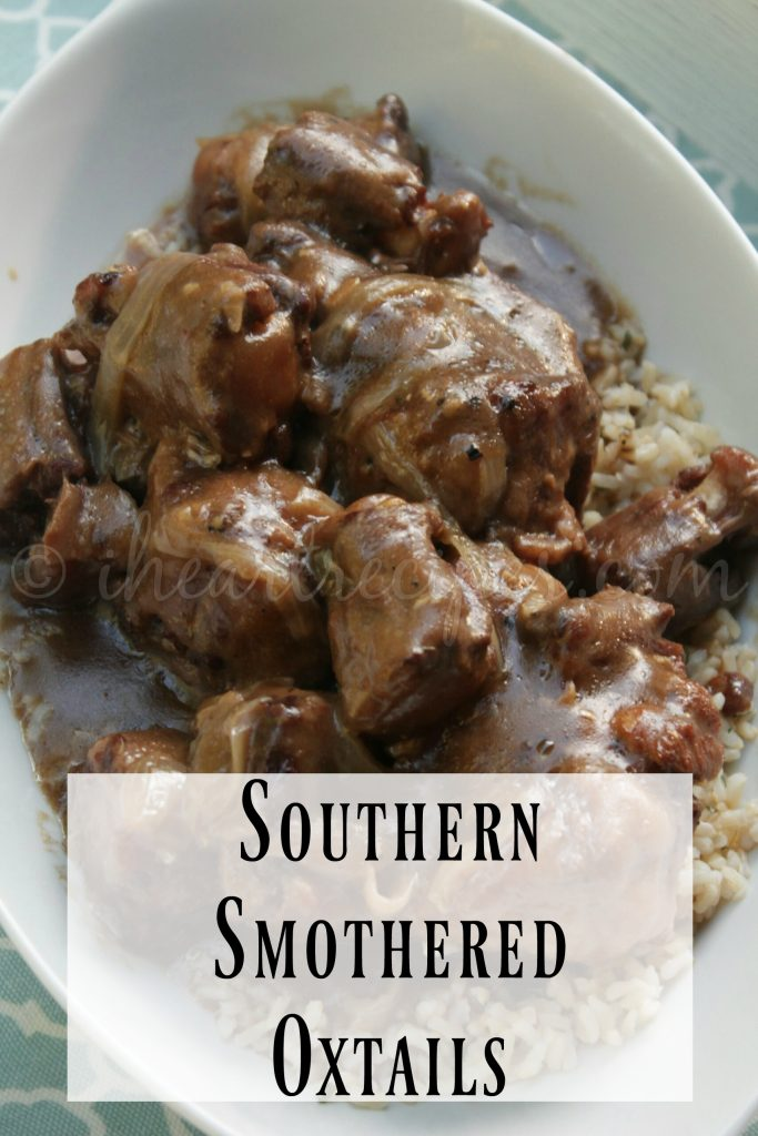 Southern Style Smothered Oxtail recipe from I Heart Recipes