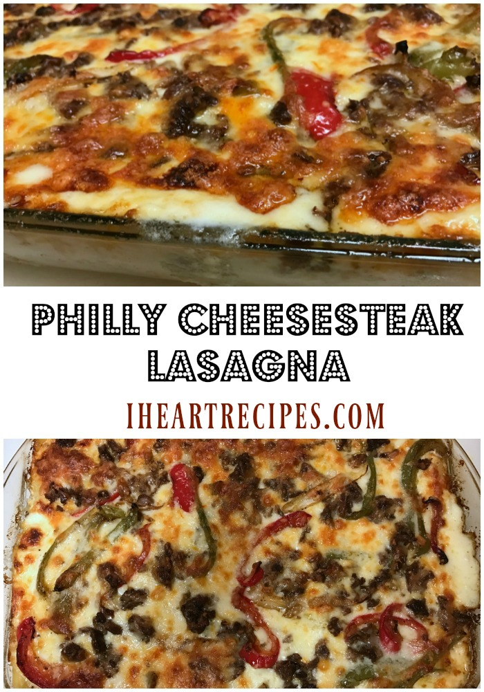 Philly Cheesesteak Lasagna is a yummy twist on a classic!