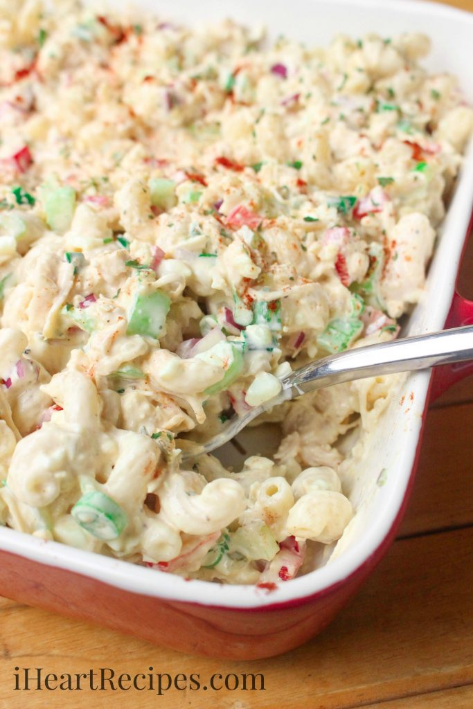 Cold Chicken Macaroni Salad I Heart Recipes