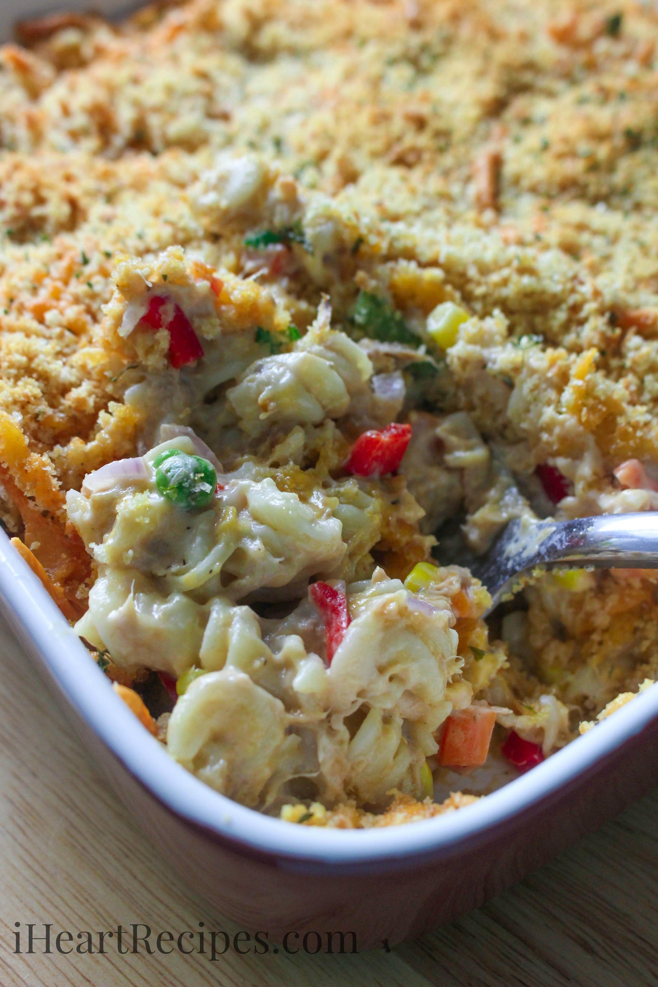 Easy tuna casserole recipe i heart recipes for How to make tuna fish casserole