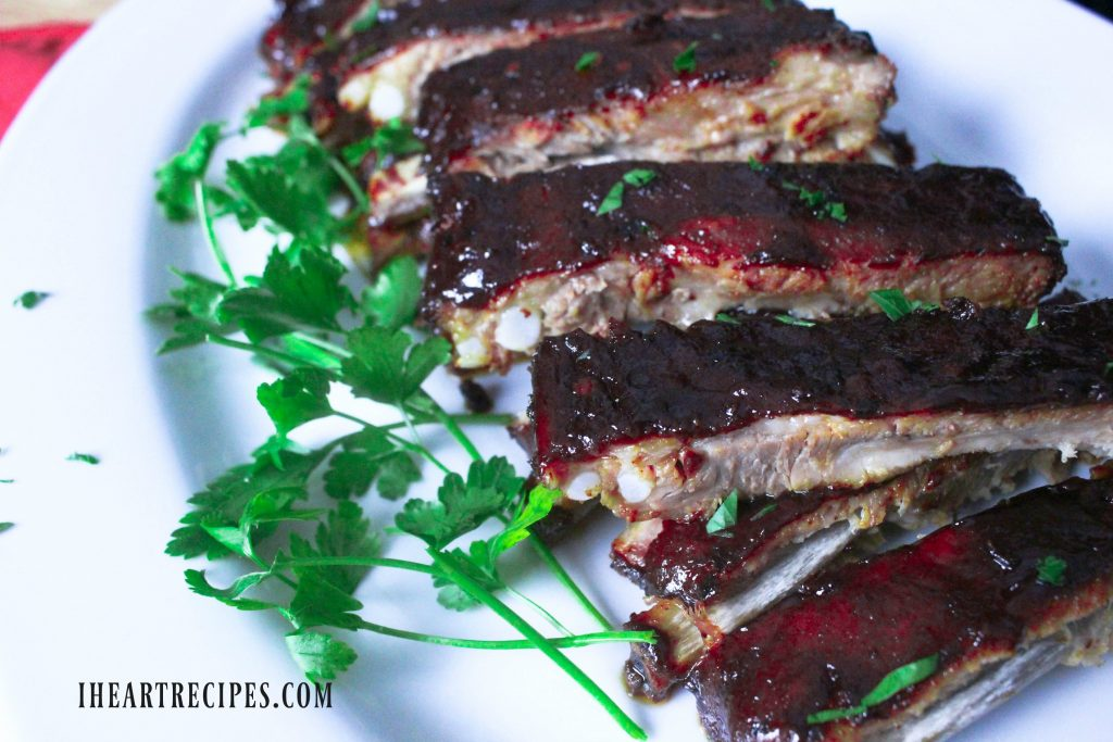 These are the best oven baked ribs that taste just like they were grilled.