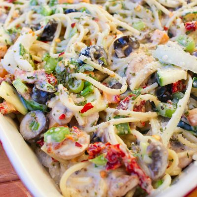 Creamy Spaghetti Pasta Salad