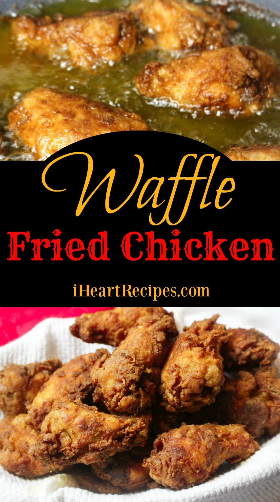 Waffle Fried Chicken | I Heart Recipes