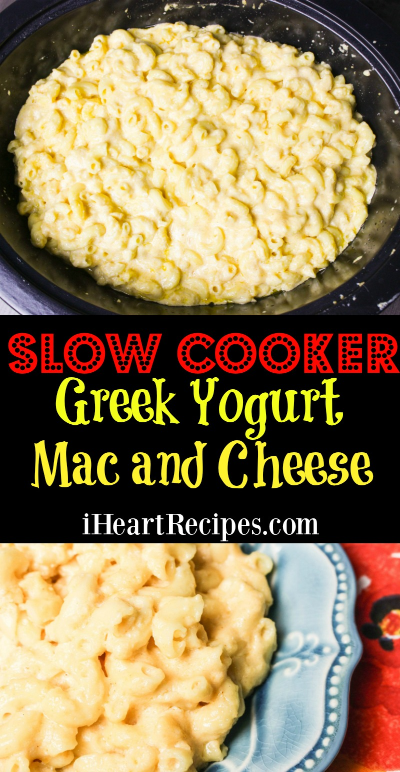 Slow Cooker Greek Yogurt Mac & Cheese | I Heart Recipes