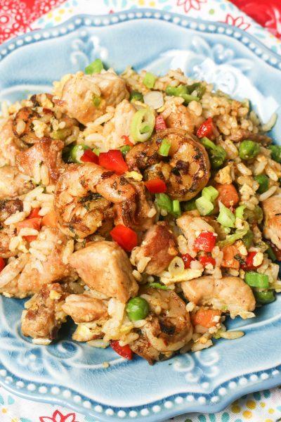 Pork & Jerk Shrimp Fried Rice