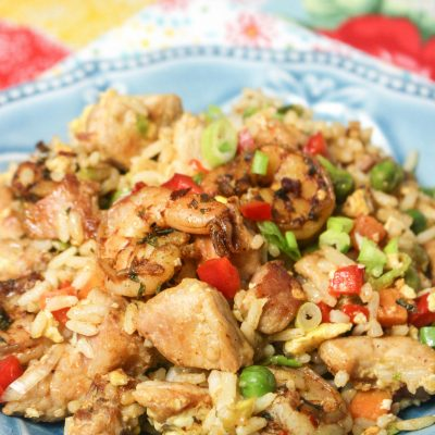 Pork & Jerk Shrimp Fried Rice