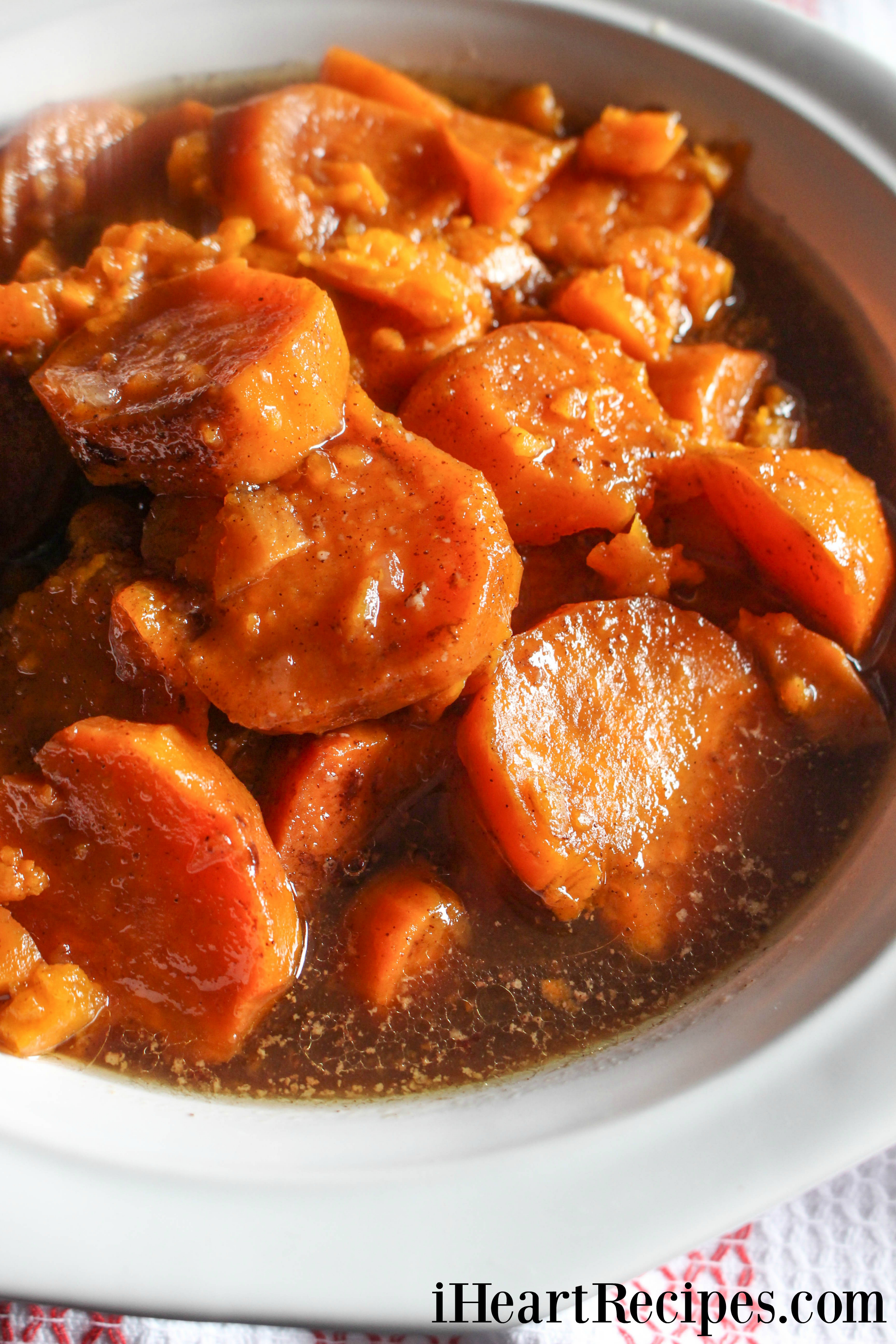 Slow Cooker Candied Yams I Heart Recipes