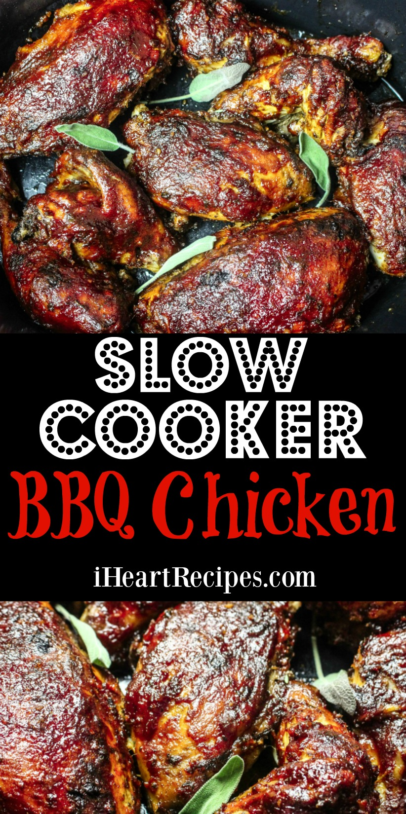 Delicious Slow Cooker BBQ Chicken | I Heart Recipes