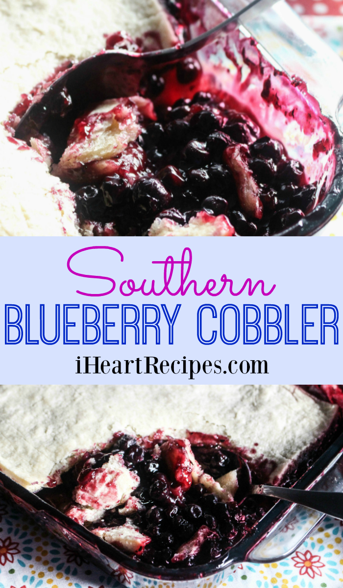 This Southern Blueberry Cobbler recipe is sweet and tart--the perfect dessert!